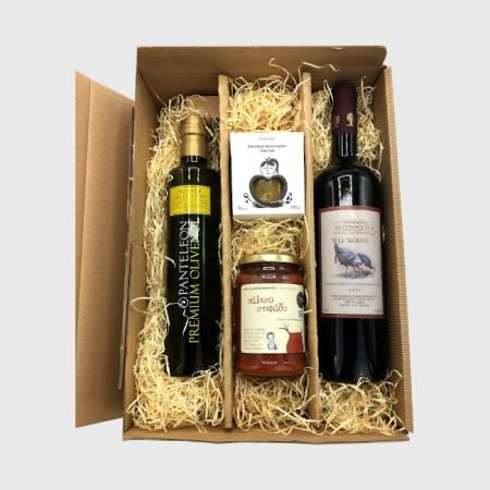 Präsentkarton 3er Öl und Wein