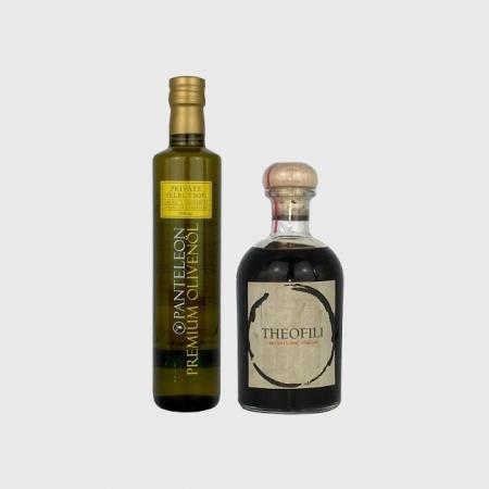 Sparset Panteleon Olivenöl und Theofili Balsamico